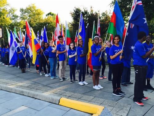 CFA Flag Bearers at Bike Race
