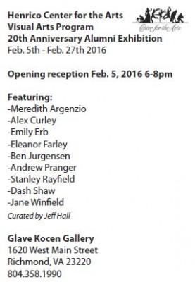 Alumni Art Show Invite 2