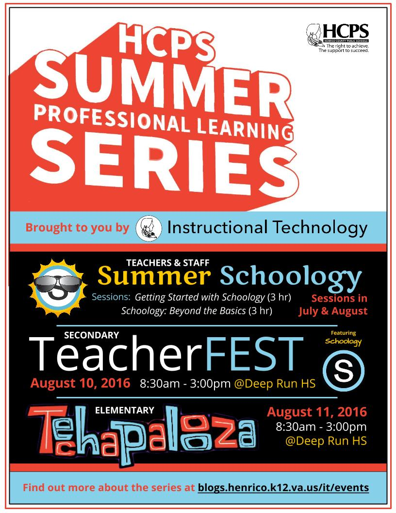Summer Professional Learning Series - Instructional Technology