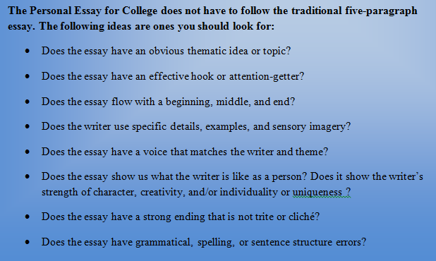 How to write a great essay for college