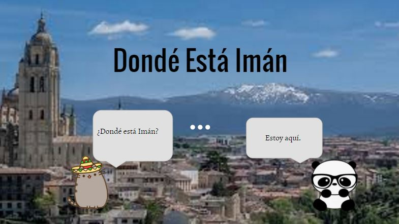 ¿Dónde está Imán? (Where is Imán?)