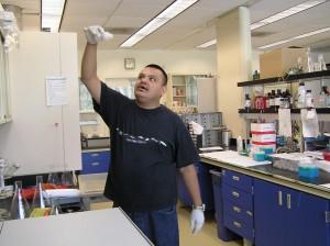 Manny @ lab
