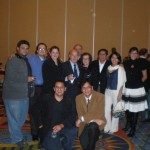 Dr. Miledi, lab members from USA and Mexico
