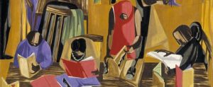 "Jacob Lawrence, ""The Library"" detail, 1960"