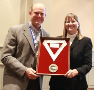 L Robin Keller Ramsey Medal Award- from DA Society President Eric Bickel