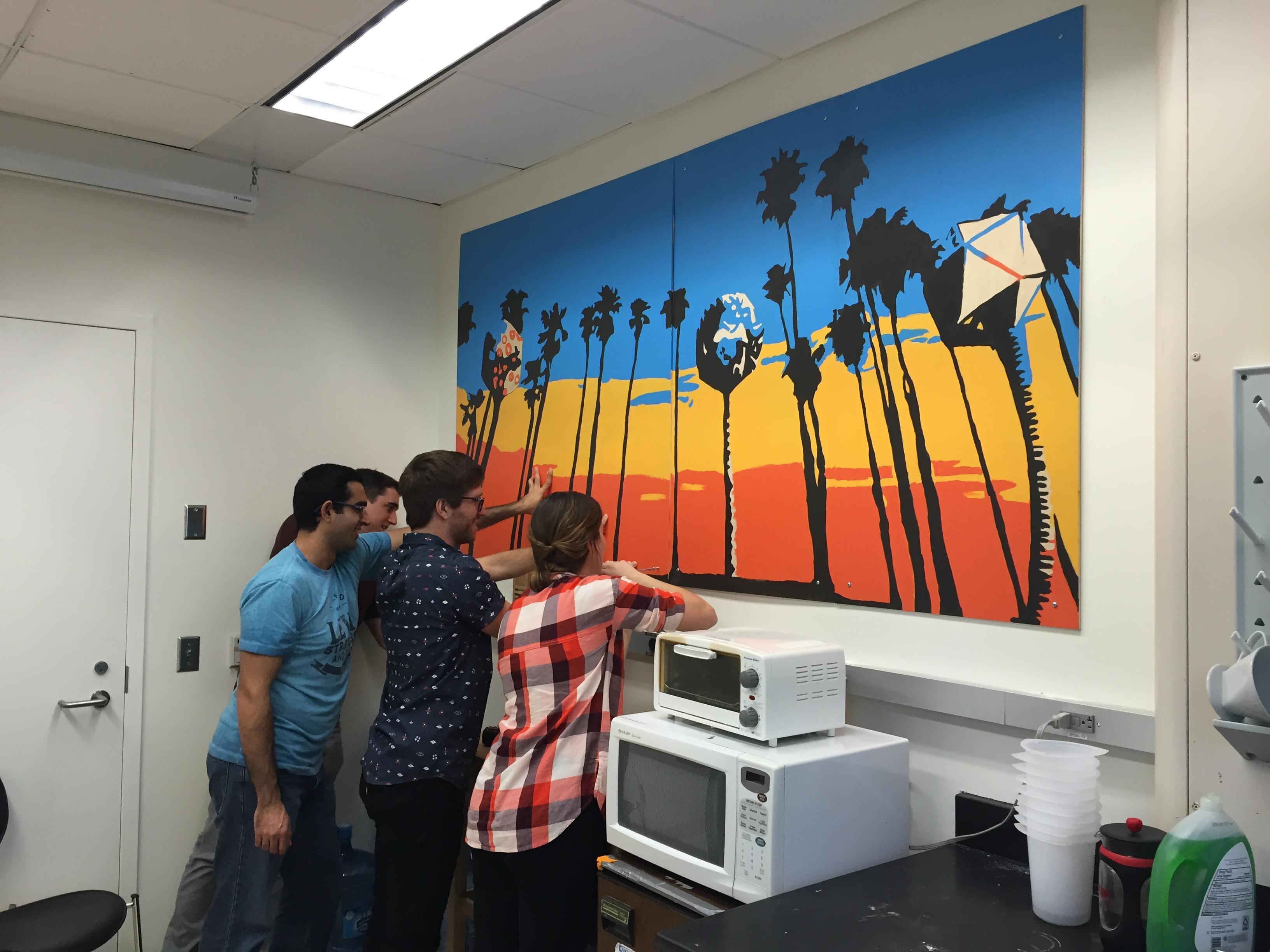 Lab mural installation