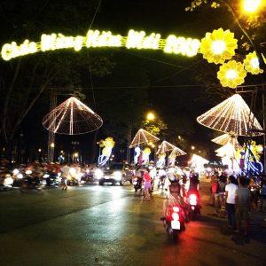 Lê Duẩn street, District One during the calendar new year. Photo by Hun Kim 2012.