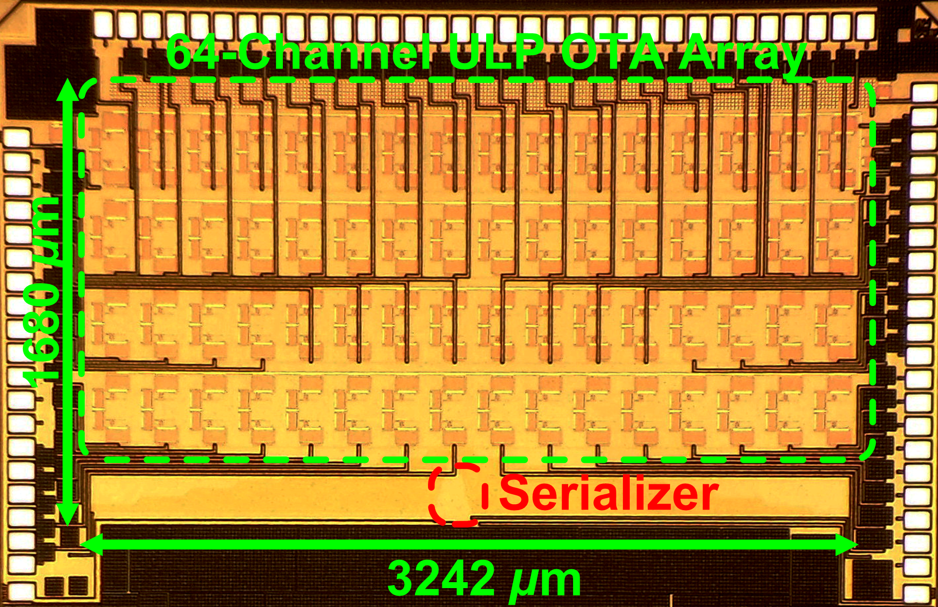 ULP Amplifier Array on 130nm CMOS