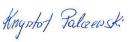 Krzysztof Palczewski Signature