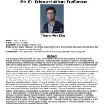 Congratulations to Dr. Young-An Kim