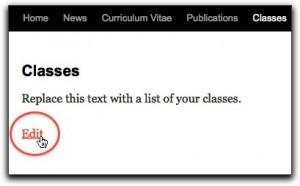 Edit page screenshot