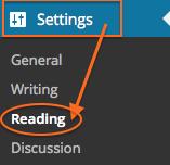 Settings > Reading