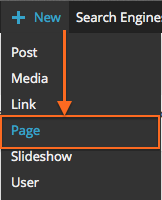 New > Page