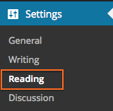 Settings > Reading