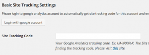 Google Analytic Settings