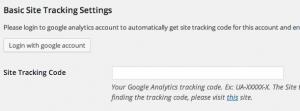 Google Analytic Settings