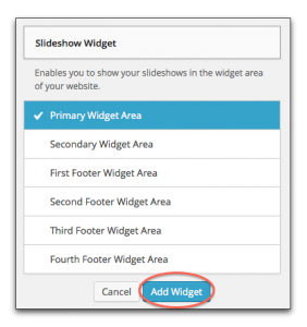 Add Slideshow Widget