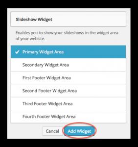Add Slideshow Widget