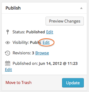 Edit Page Visibility