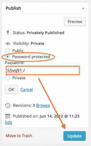 Password Protect a Page