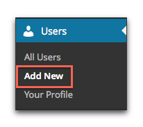 Users > Add New