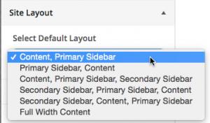 Select default layout