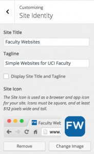 Faculty Websites site icon