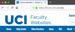 Browser screenshot showing https