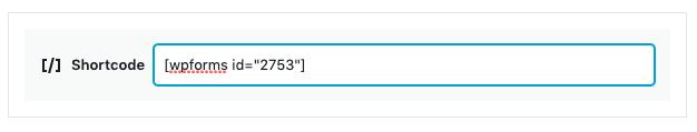 Shortcode widget example