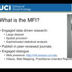 MFI Presentation to the Southern California Association of Government's Regional Council Meeting