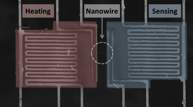 Single Nanowire Thermal Device