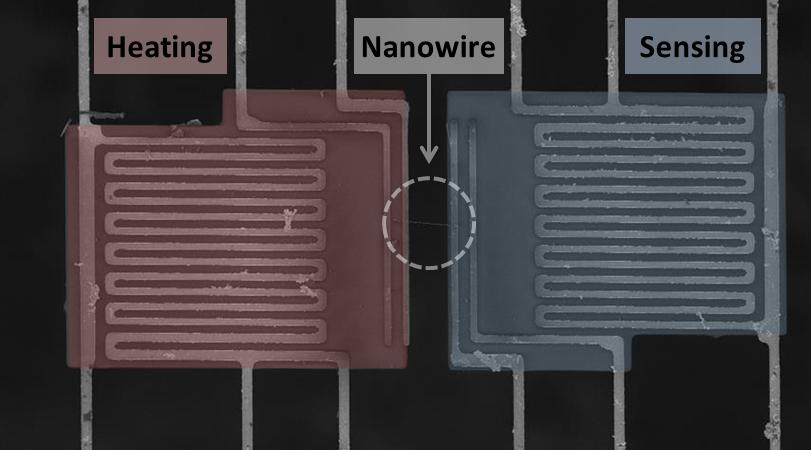 Single Nanowire Thermal Device