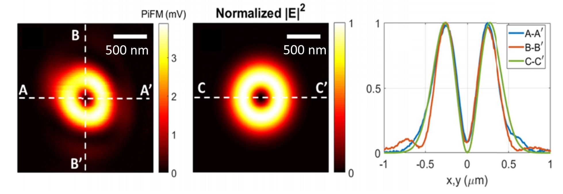 Symmetric characterization of an azimuthally polarized beam (APB) with AuNP PiFM