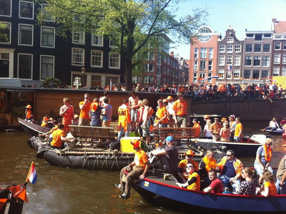 Celebrating Koninginnedag or Queen's Day - a national holiday in the Kingdom of the Netherlands.