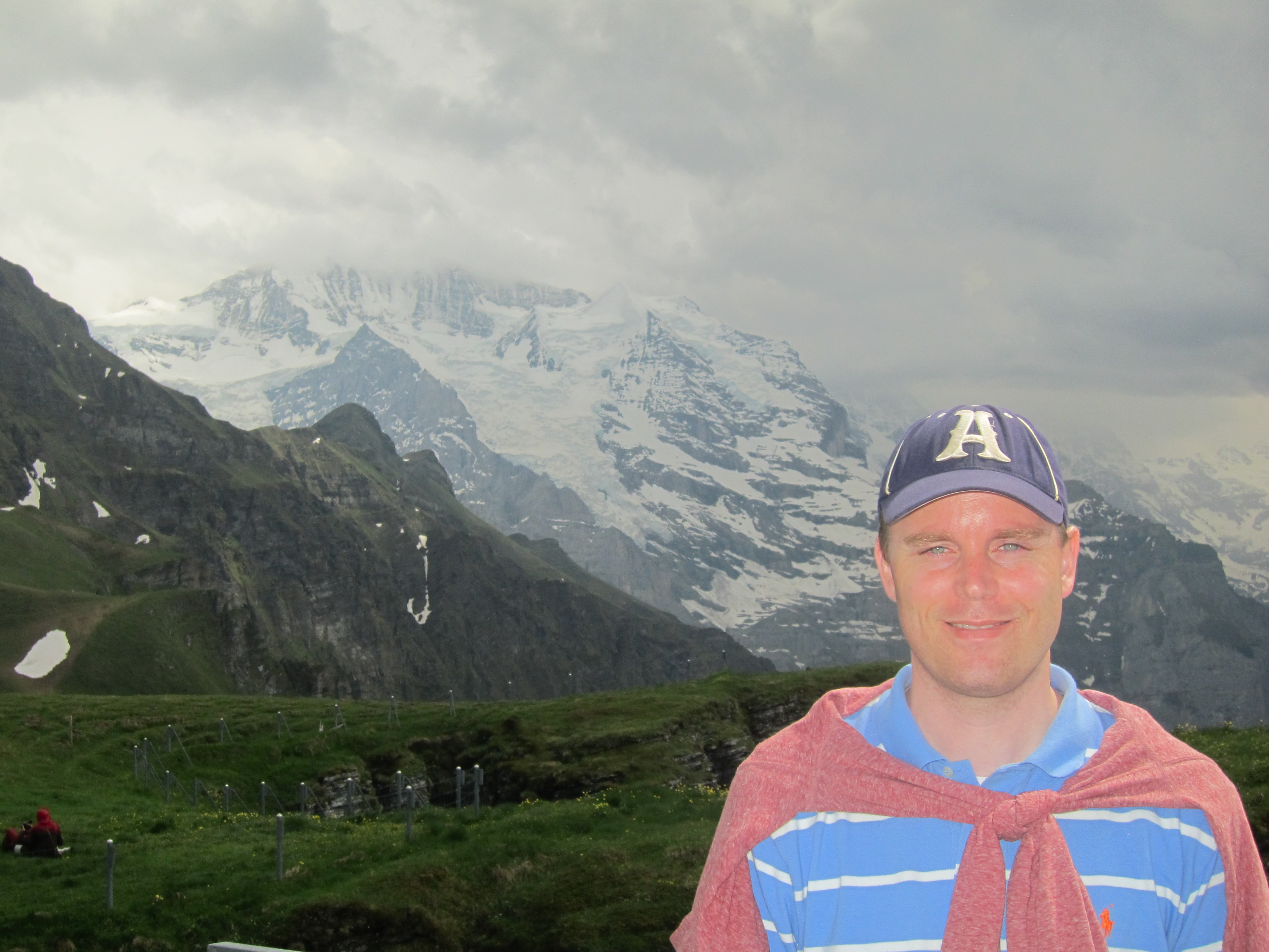 Enjoying a hike in the Swiss Alps. Lauterbrunnen to Mannlichen via Wengen.