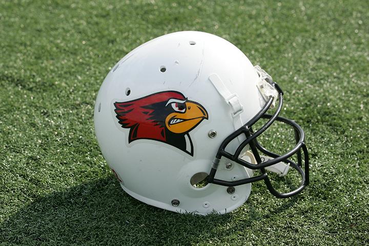 Redbird football helmet