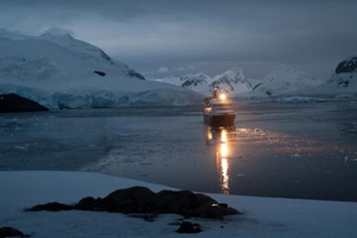 A boat in Antarctica