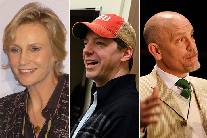 Jane Lynch, Sean Hayes and John Malkovich