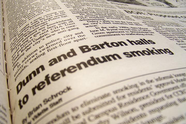 Vidette headline Dunn and Barton halls