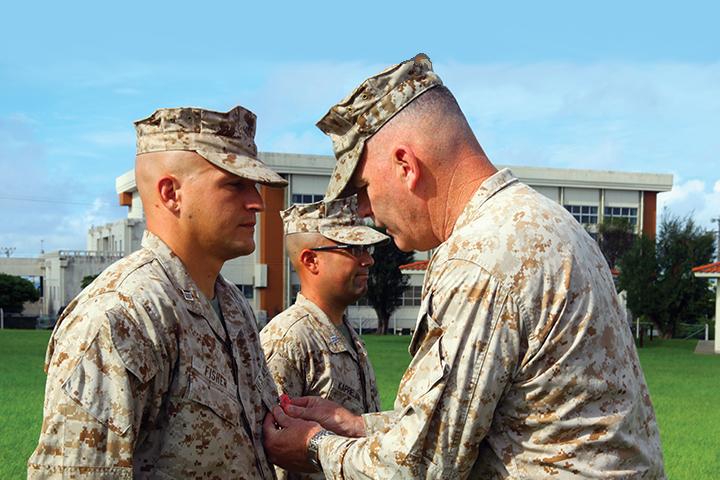 Capt. Aaron F. Fisher gets Bronze Star