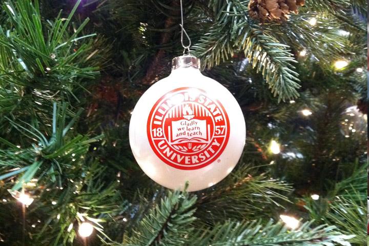ISU ornament in tree