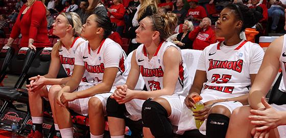 Women's basketball team bench