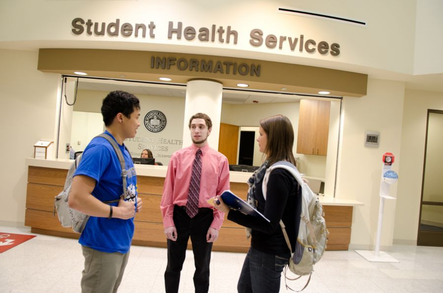 Students at Student Health Services