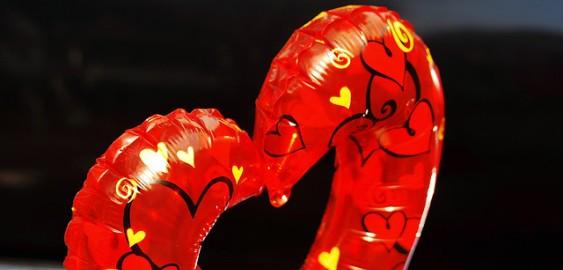 Heart balloon for Valentine's Day