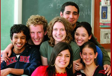 College of Education students smile