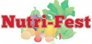 Nutri-Fest logo with fruits and veggies drawing