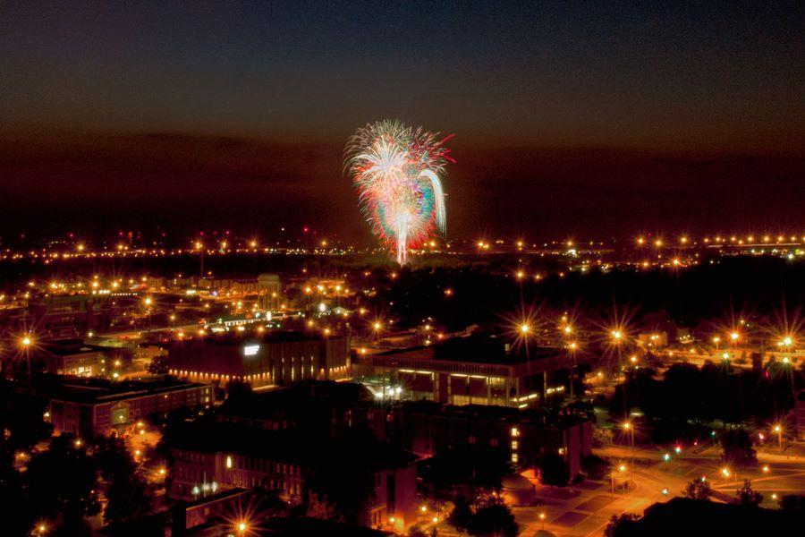 Fireworks on campus