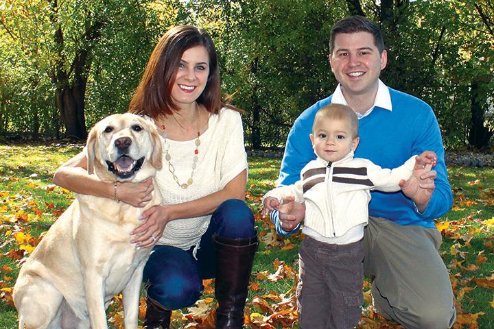 The Pellum family poses