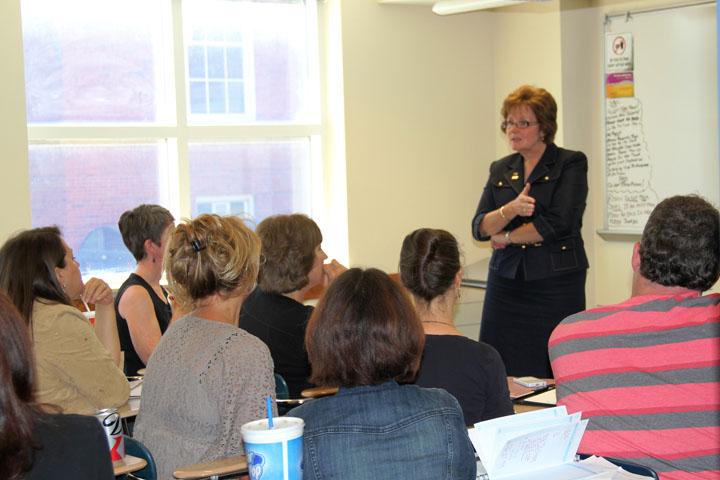 Dr. Nancy Flanagan at MCN Colloquium Event
