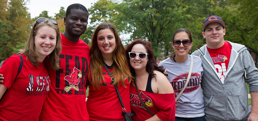 Illinois State students pose